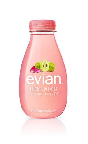 Evian Fruits & Plantes Raisin et Rose BIO 12x370ml NEW